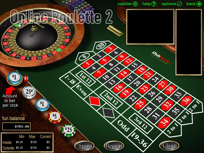Online roulette play money